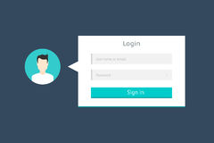 Login Form Royalty Free Stock Photo
