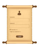 Login form Royalty Free Stock Photography