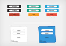 Login form. Vector file fully editable Royalty Free Stock Images
