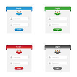 Login forms Royalty Free Stock Image