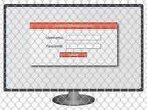 Login het scherm - gebruikersbenaming & wachtwoord Royalty-vrije Stock Fotografie