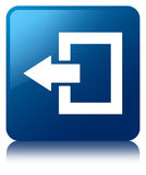 Login icon blue square button Royalty Free Stock Photo