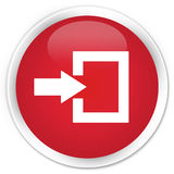 Login icon premium red round button Royalty Free Stock Image