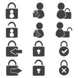 Login icon set, avatar vector illustartion Royalty Free Stock Photography