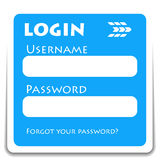 Login icon Royalty Free Stock Image