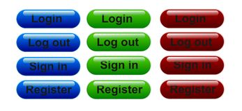 Login icons stock illustration