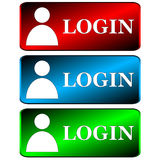 Login icons set Royalty Free Stock Image