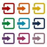 Login icons set Royalty Free Stock Images