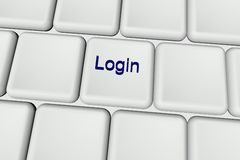 Login Royalty Free Stock Photos
