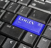 Login knoop. stock fotografie
