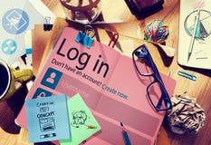 Login Online Conc de Privacybescherming van Internet van de Wachtwoordidentiteit Royalty-vrije Stock Afbeelding