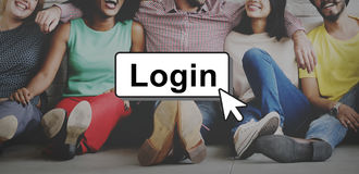 Login Online Digital Technology Click Concept royalty free stock photo