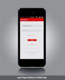 Login page interface design Royalty Free Stock Photos