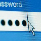 Login password. On lcd screen macro stock photography