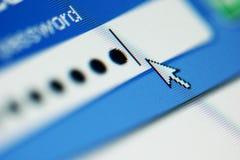 Login password. On lcd screen macro royalty free stock image