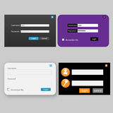 Login and password design vector illustration