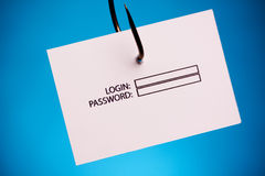 Login and Password on hook Stock Images
