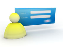 Login and password icon Stock Image