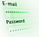 Login and password Stock Image