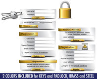 Login Password Registration web elements Royalty Free Stock Image