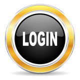 Login pictogram Stock Foto
