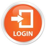 Login premie oranje ronde knoop Stock Fotografie