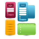 Login and register box Stock Images