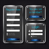 Login and register glass web forms Stock Photography