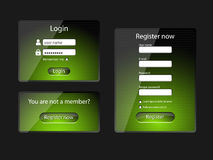 Login and register web screens-vector Stock Photo