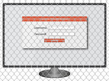Protected system administration Royalty Free Stock Photography