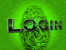 Login Security Shows Logon Restricted And Username Stock Images