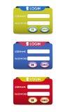Login set design Royalty Free Stock Photo