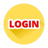 Login with Shadow Royalty Free Stock Photo