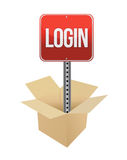 Login sign Stock Photography