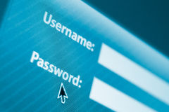 Login or sign in form. With username and password fields royalty free stock photography