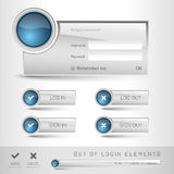 Login Template Royalty Free Stock Photography
