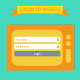 Login template tv retro style. Stock Photography
