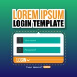 Login Template UI Vector Image Royalty Free Stock Photography