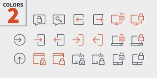Free Login UI Pixel Perfect Well-crafted Vector Thin Line Icons 48x48 Ready For 24x24 Grid For Web Graphics And Apps With Stock Photography - 123341842