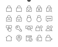 Login UI Pixel Perfect Well-crafted Vector Thin Line Icons  Royalty Free Stock Photo