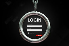 Login background. Login user name and password background stock image