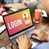 LogIn User Password Privacy Concept. LogIn User Password Privacy Online Royalty Free Stock Image