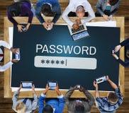 Login van de Firewallinternet van de wachtwoordtoegang Privé Concept stock foto's