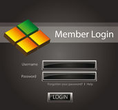 Login vector background Stock Photography