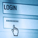 Login wachtwoord Stock Afbeeldingen