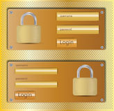 Login web design element Stock Image