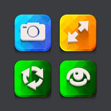 Login web icons collection Stock Image