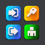 Login web icons collection Stock Photography