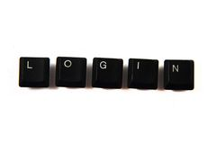 Login - word from the keyboard keys Royalty Free Stock Photo
