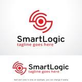 Logique abstraite Logo Template Design Vector, emblème, concept de construction, symbole créatif, icône de cercle Images stock